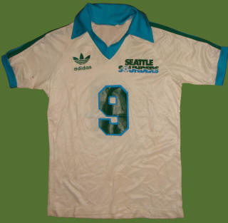 NASL Soccer Seattle Sounders 82 Home Jersey  Peter Ward