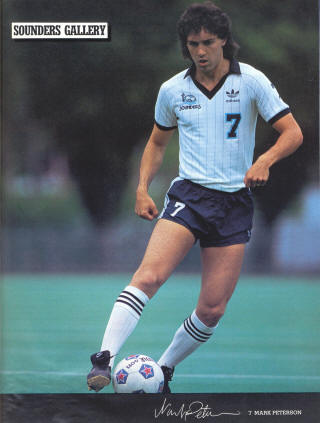 NASL Soccer Seattle Sounders 83 Home Mark Peterson