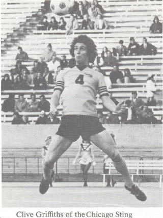NASL Soccer Chicago Sting 75 Home Clive Griffiths