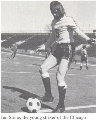 NASL Soccer Chicago Sting 75 Home Ian Stone