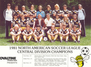 NASL Soccer Chicago Sting 81 Road Team