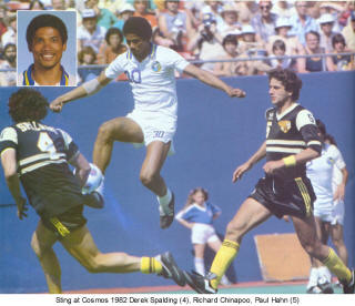 NASL Soccer Chicago Sting 82 Road Back Derek Spalding Cosmos Richard Chinapoo, Paul Hahn