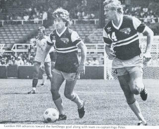 NASL Soccer Chicago Sting 82 Road Gordon Hill, Peter, Sockers