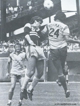 NASL Soccer Chicago Sting 82 Road Paul Hahn, Sockers Mike Stojanovic