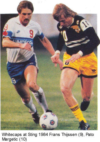 NASL Soccer Chicago Sting 84 Road Pato Margetic