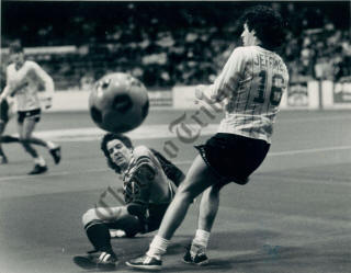 MISL Soccer Chicago Sting 85-86 Home Drew Ferguson, Strikers 1-19-1986