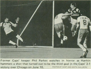 Vancouver Whitecaps Chicago Sting 1981 Home Back Dave Thomas , Parkes, 6-10-81, Tasso Koutsoukos