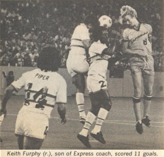 NASL Soccer Ft. Lauderdale Strikers 78 Home Back Norman Piper Express Keith Furphy