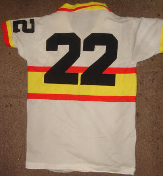 NASL Soccer Ft. Lauderdale Strikers 78 Home Jersey Colin Fowles Back