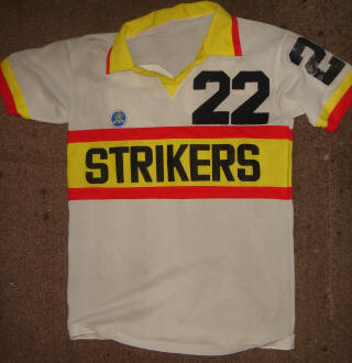 NASL Soccer Ft. Lauderdale Strikers 78 Home Jersey Colin Fowles