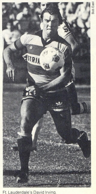 NASL Soccer Ft. Lauderdale Strikers 78 Road David Irving
