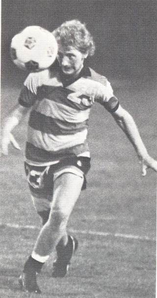 NASL Soccer Ft. Lauderdale Strikers 78 Road Kevin McClilnton wearing 77 Uni