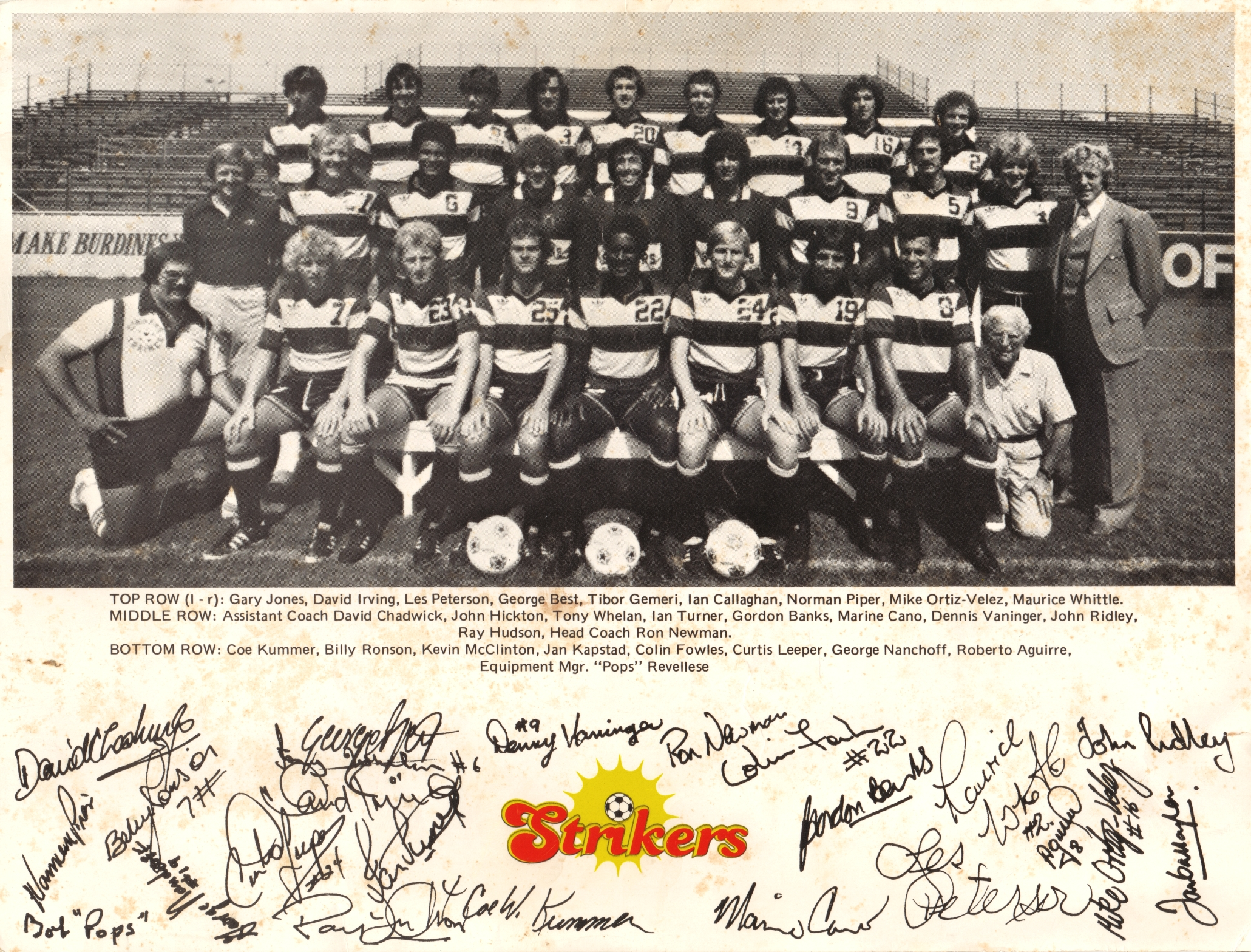 NASL Soccer Ft. Lauderdale Strikers 78 Road Team