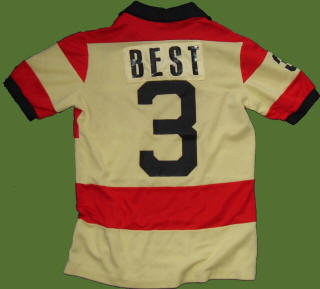 NASL Soccer Ft. Lauderdale Strikers 79 Road Jersey George Best Back