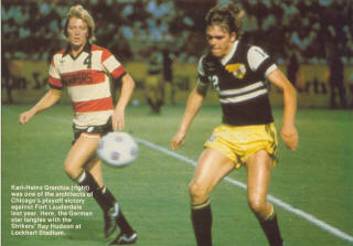 NASL Soccer Ft. Lauderdale Strikers 79 Road Ray Hudson.jpg Karl Heinz  granitza