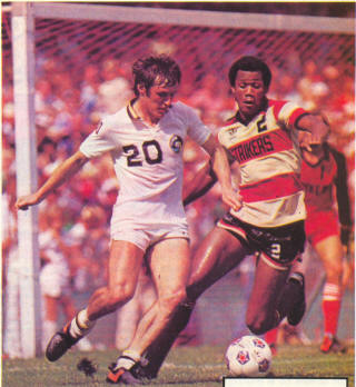 NASL Soccer Ft. Lauderdale Strikers 80 Road Arsene Auguste
