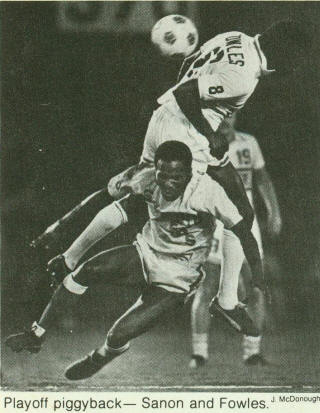 NASL Soccer Ft. Lauderdale Strikers 1981 Home Back Colin Fowles, Sockers, Manu Sanon