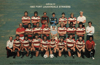 NASL Soccer Ft. Lauderdale Strikers 82 Road Team