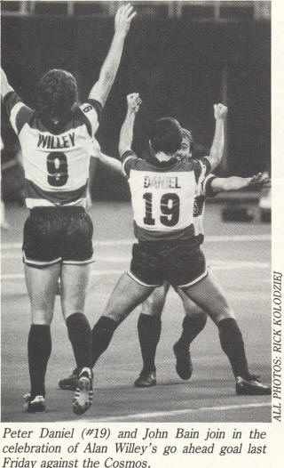 NASL Soccer Ft. Lauderdale Strikers 84 Road Back Alan Willey, Peter Daniel