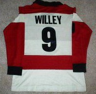 Strikers 84-85 Home Jersey Alan Willey Back