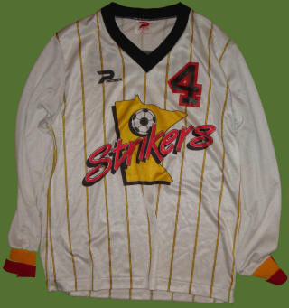 Strikers 86-87 Road Jersey Ray Hudson