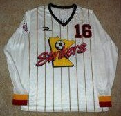 Strikers 87-88 Road Jersey George Gelnovatch
