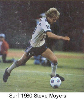 NASL Soccer California Surf 80 Home Back Steve Moyers
