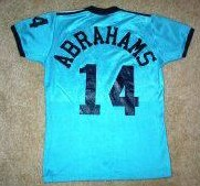 NASL Soccer California Surf 80-81 Road Jersey Laurie Abrahams Back