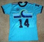 NASL Soccer California Surf 80-81 Road Jersey Laurie Abrahams