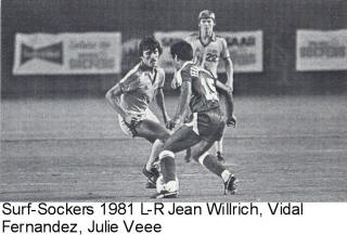 NASL Soccer California Surf 81 Road Back Vidal Fernandez Sockers Willrich Veee