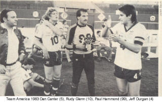 NASL Soccer Team America 83 Home Rudy Glen