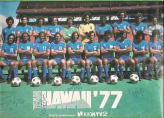 NASL Soccer Team Hawaii 77 Road Team