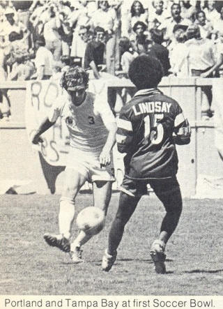 Tampa Bay Rowdies Portland Timbers 1975 Home Barry Lynch, Mark Lindsay