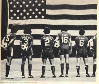 NASL Soccer Portland Timbers 78 Road Team Back