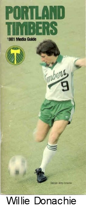 NASL Soccer Portland Timbers 81 Home Willie Donachie