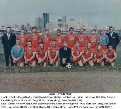 Dallas Tornado 1968 Team Photo