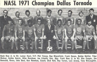 Dallas Tornado 1971 Road Team