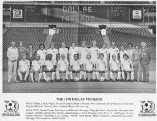 NASL Soccer Dallas Tornado 1975 Team