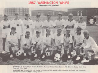 NASL Soccer Washington Whips 67 Home Team