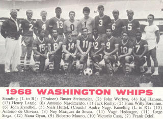 NASL Soccer Washington Whips 68 Road Team 2