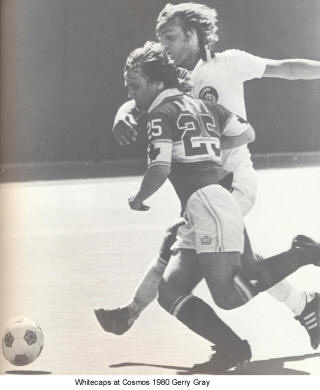 NASL Soccer Vancouver Whitecaps 80 Road Back Gerry Gray Cosmos