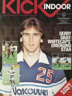 NASL Soccer Vancouver Whitecaps 82 Road Gerry Gray