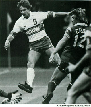 NASL Soccer Vancouver Whitecaps 83 Home Frans Thijssen 7-3-085, Sockers Kevin Crow