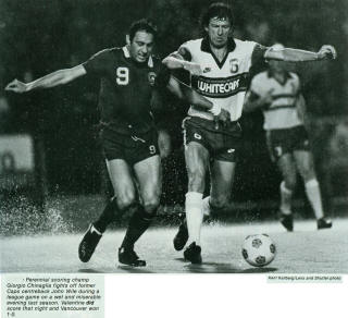Vancouver Whitecaps 1983 Home John Wile Cosmos Spring Cup