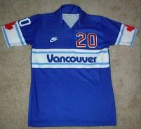 NASL Soccer Vancouver Whitecaps 84 Road Jersey Pierce O'Leary