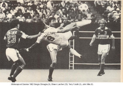 NASL Soccer Vancouver Whitecaps 82 road back Shaun lowther